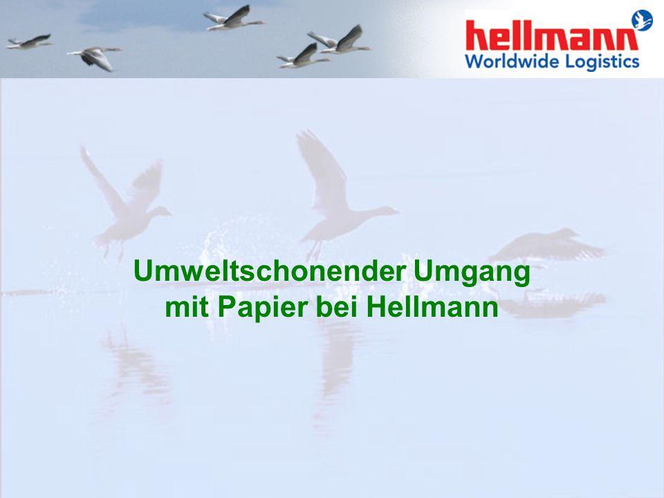 Daher hat die Firma Hellmann beschlossen, spezielle Umweltziele mit entsprechenden Leitzielen zu verwirklichen um zum aktiven Umweltschutz beizutragen
