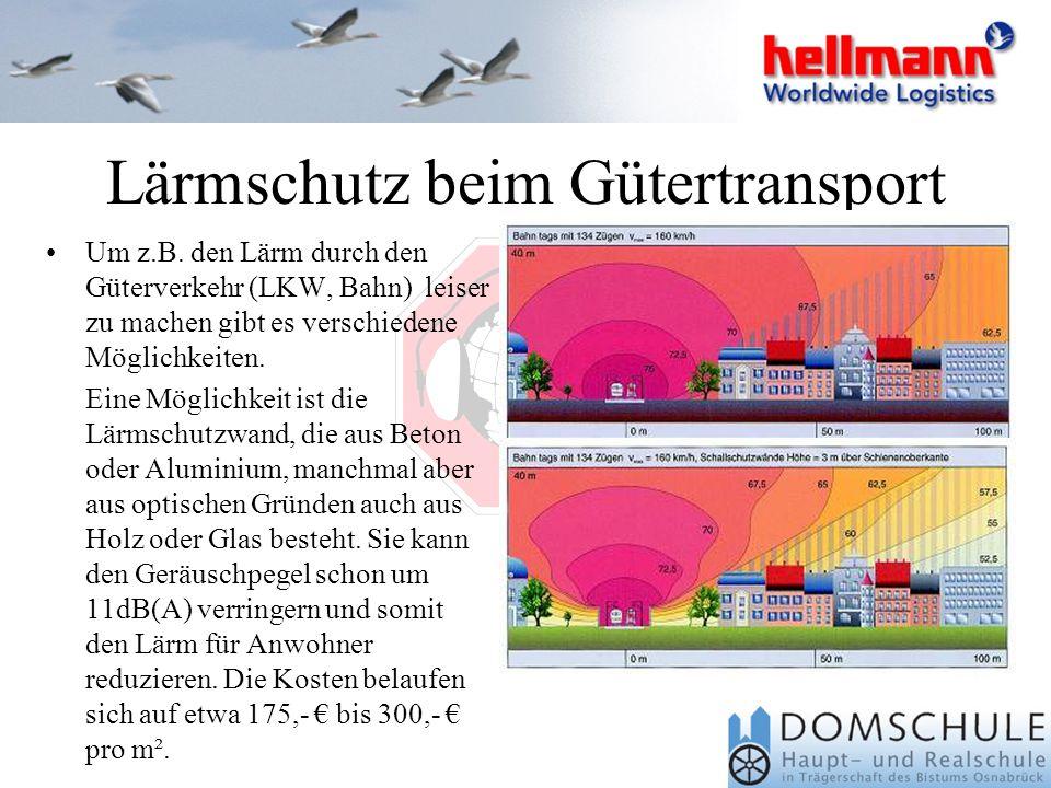 Lärmschutz beim Gütertransport Um z.B.