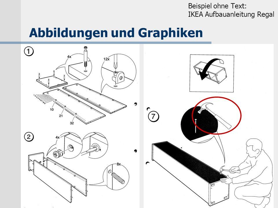 K.-D. Schmitz, IIM, FH Köln Abbildungen und Graphiken Beispiel ohne Text: IKEA Aufbauanleitung Regal