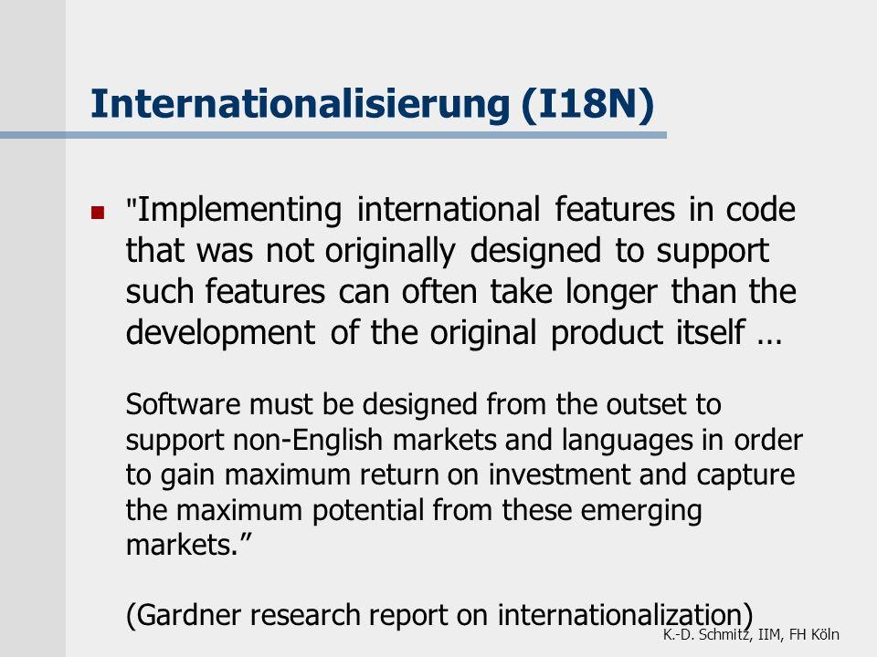K.-D. Schmitz, IIM, FH Köln Internationalisierung (I18N)