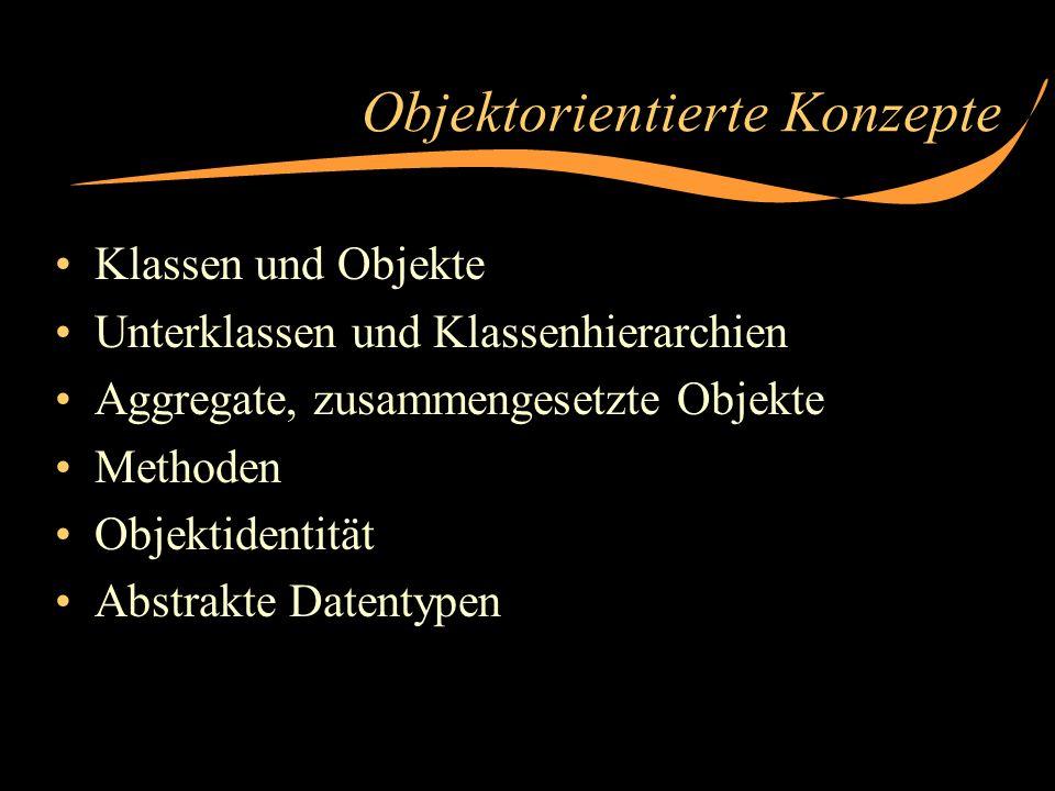 Klassen und Objekte: Beispiel in C++ Gleichartige Objekte bilden eine Klasse class Brüche {private:long zähler; long nenner; kürze(); public:Brüche(long z, long n = 1) {zähler = z; nenner = n; kürze();} Brüche& plus(const Brüche &x) {zähler = zähler * x.nenner + nenn...