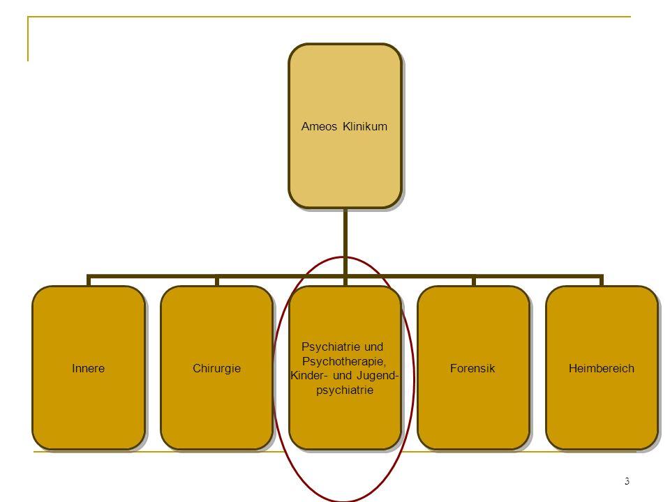 3 Ameos Klinikum InnereChirurgie Psychiatrie und Psychotherapie, Kinder- und Jugend- psychiatrie ForensikHeimbereich