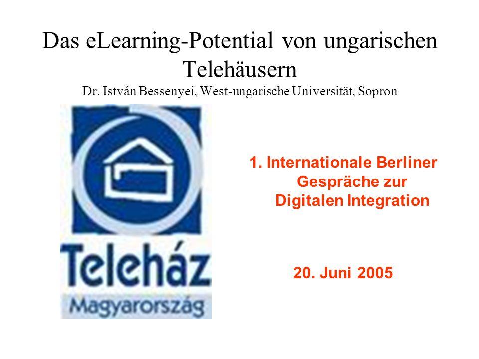 Das eLearning-Potential von ungarischen Telehäusern Dr.