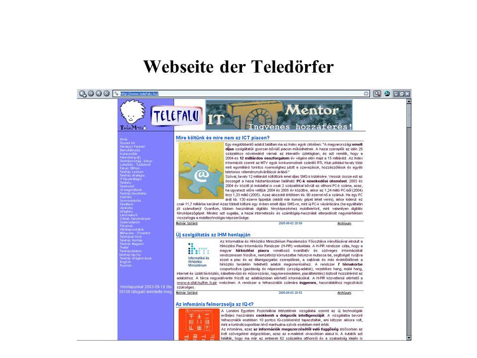 Webseite der Teledörfer