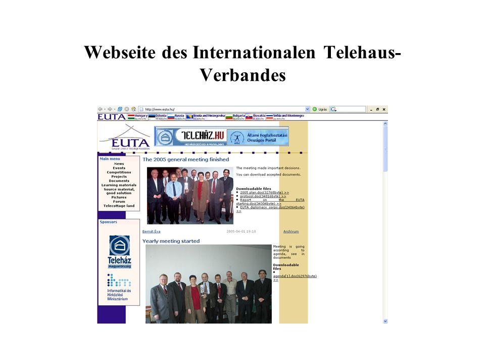 Webseite des Internationalen Telehaus- Verbandes