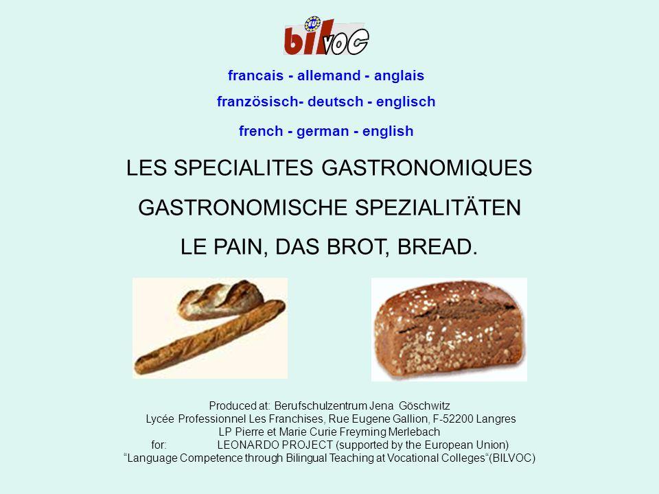 Le pain Das Brot