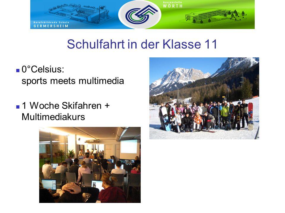 Schulfahrt in der Klasse 11 0°Celsius: sports meets multimedia 1 Woche Skifahren + Multimediakurs