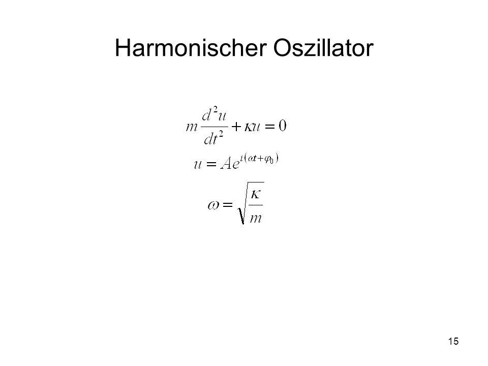 15 Harmonischer Oszillator