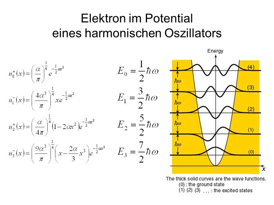 25 Elektron im Potential eines harmonischen Oszillators