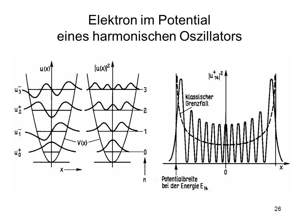26 Elektron im Potential eines harmonischen Oszillators