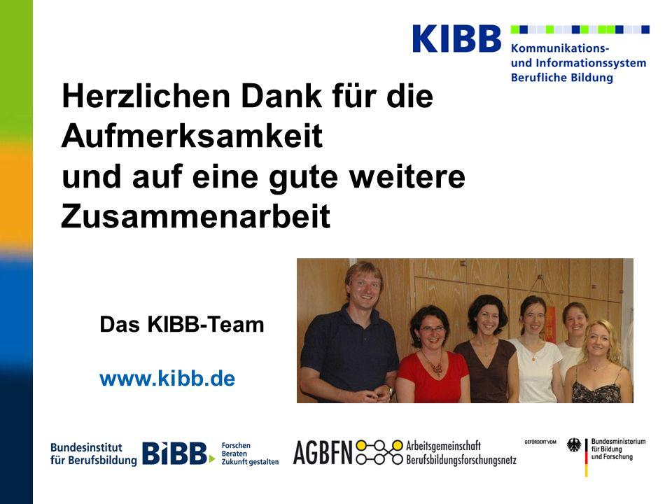 Herzlichen Dank für die Aufmerksamkeit und auf eine gute weitere Zusammenarbeit Das KIBB-Team www.kibb.de