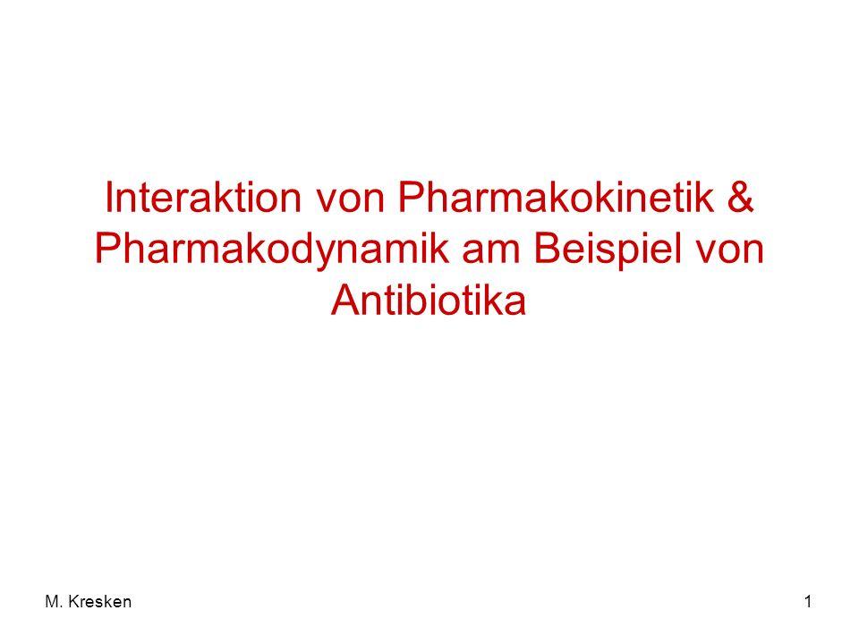1M. Kresken Interaktion von Pharmakokinetik & Pharmakodynamik am Beispiel von Antibiotika