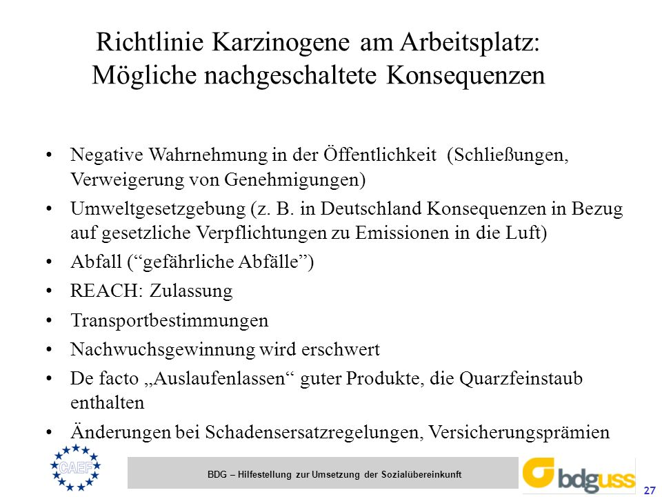 BDG – Hilfestellung zur Umsetzung der Sozialübereinkunft 27 Negative Wahrnehmung in der Öffentlichkeit (Schließungen, Verweigerung von Genehmigungen)