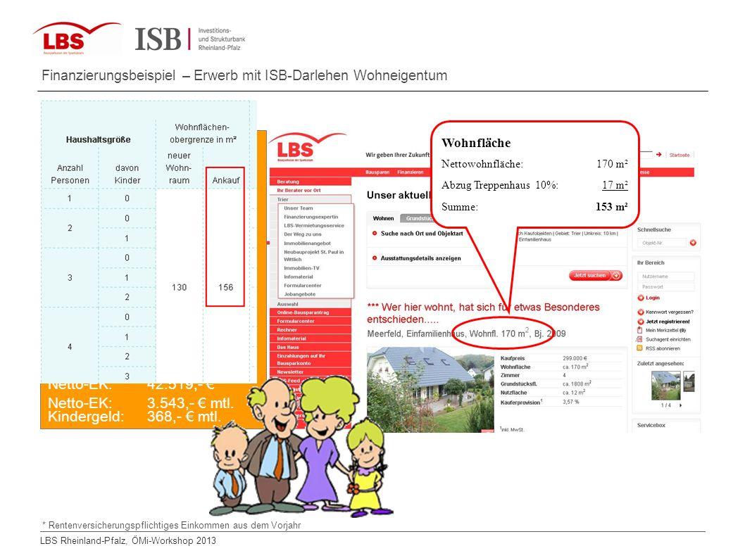 LBS Rheinland-Pfalz, ÖMi-Workshop 2013 Ehepaar Lombardi (noch kein Riestersparvertrag) Heirat: 22.02.2002 Vater Rico * 4.4.1977 Angestellter Mutter Ma