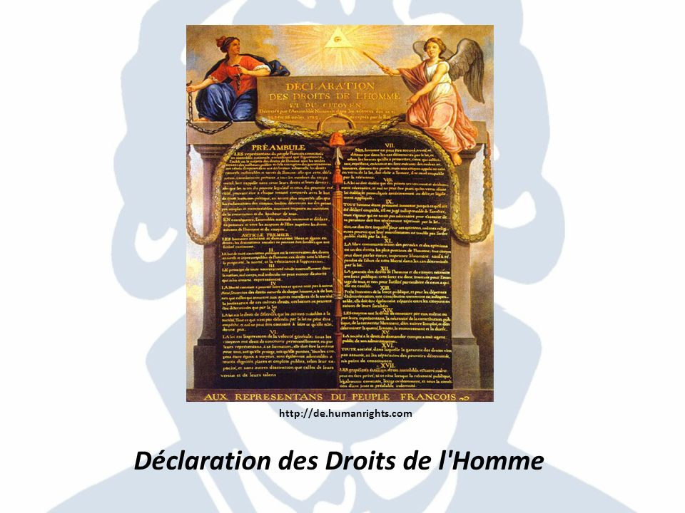 http://de.humanrights.com Déclaration des Droits de l'Homme