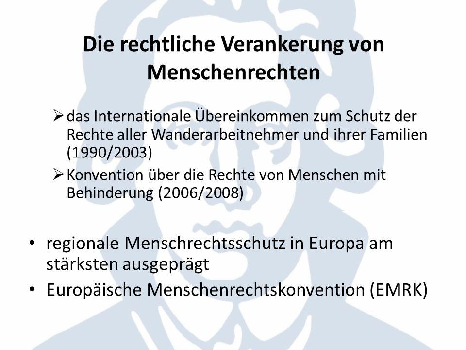 Die Europäische Menschenrechtskonvention 1950 in drei Abschnitte gegliedert diese wiederum in Artikel die drei Abschnitte: 1.Rechte und Grundfreiheiten 2.Europäischer Gerichtshof für Menschenrechte 3.Verschiedene Bestimmungen Individualbeschwerde Staatenbeschwerde