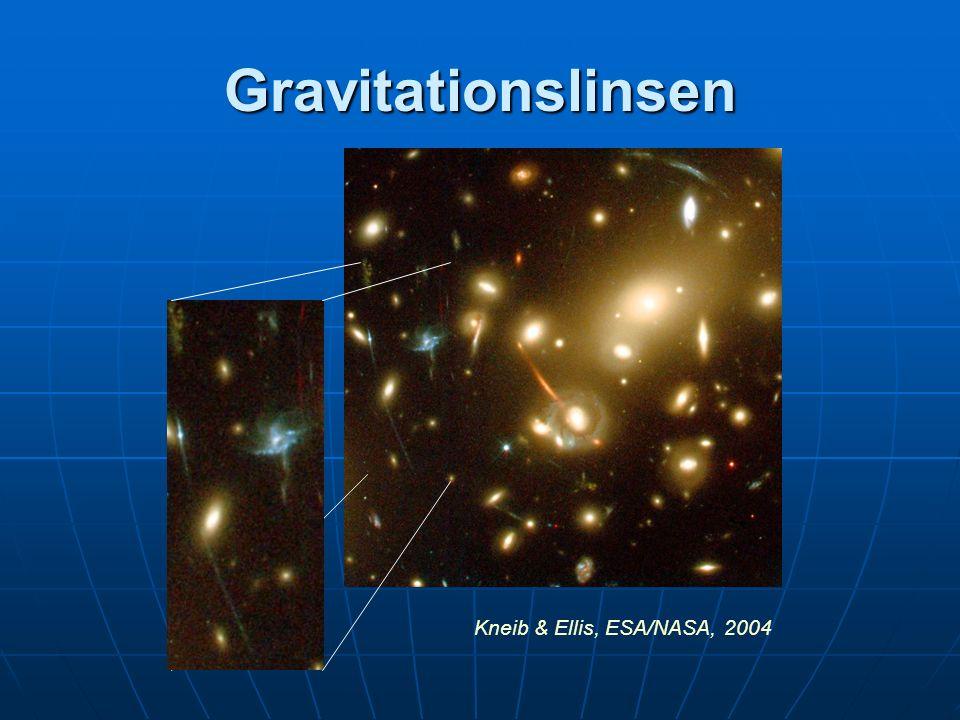 Gravitationslinsen Kneib & Ellis, ESA/NASA, 2004