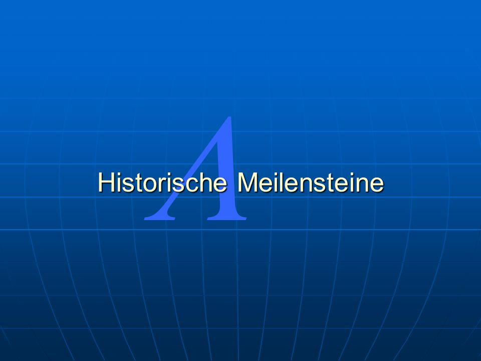 Historische Meilensteine