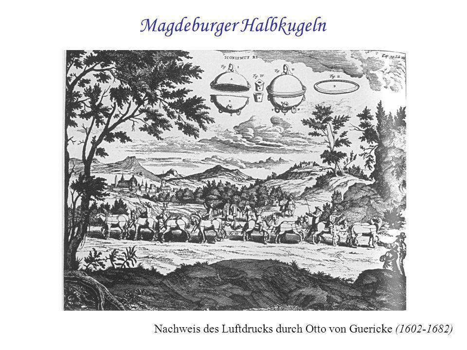 Magdeburger Halbkugeln Nachweis des Luftdrucks durch Otto von Guericke (1602-1682)