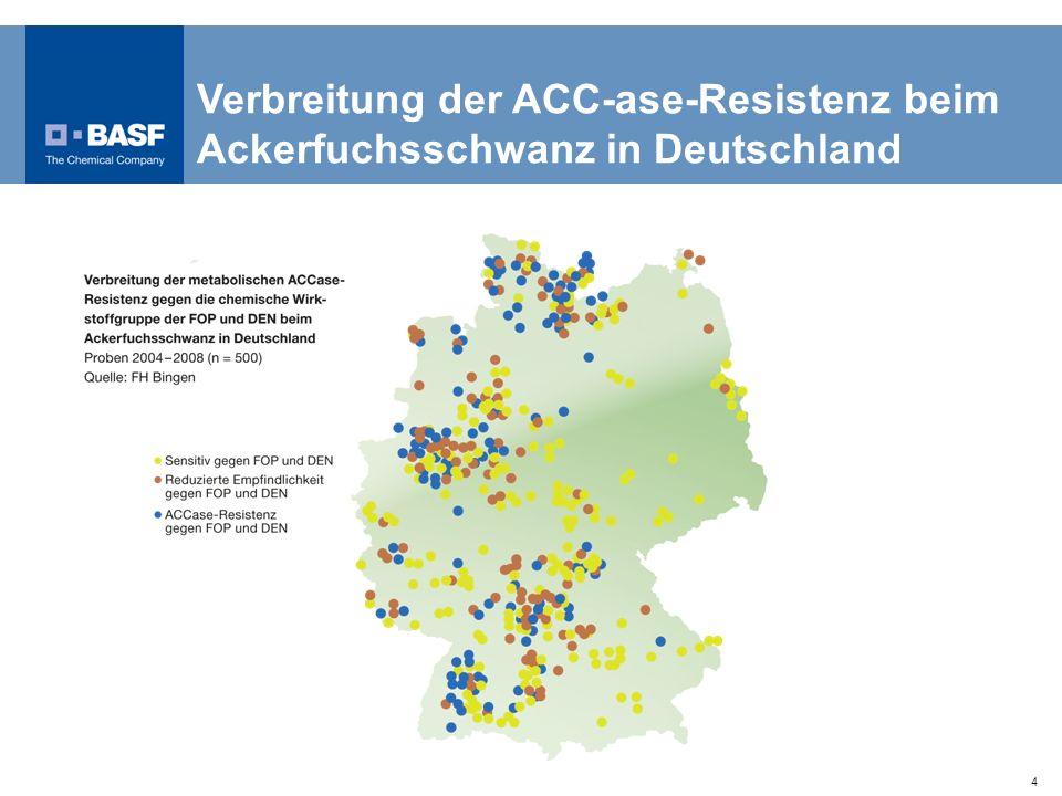 4 Verbreitung der ACC-ase-Resistenz beim Ackerfuchsschwanz in Deutschland