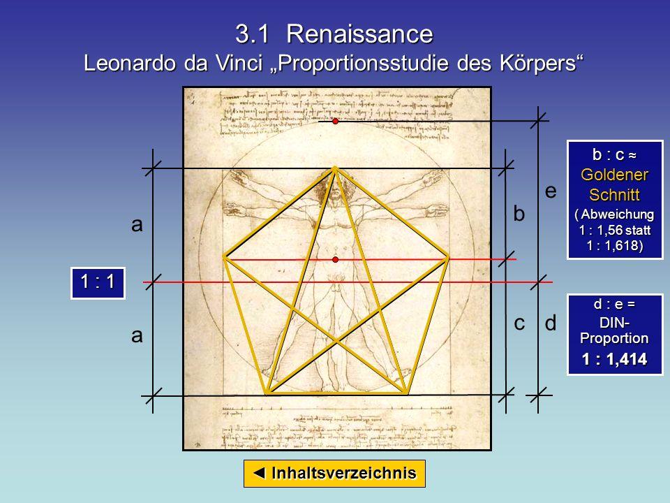 2.2 Ästhetische = Geometrische Logik des Goldenen Schnittes Inhaltsverzeichnis Inhaltsverzeichniss r 36° 1 : 1,618 s = Sekante r = Radius s r s r r s