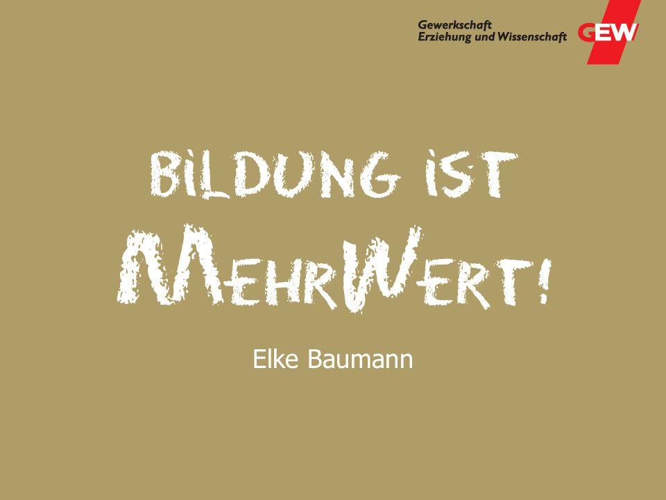 Elke Baumann, GEW-Landesverband Bremen Elke Baumann