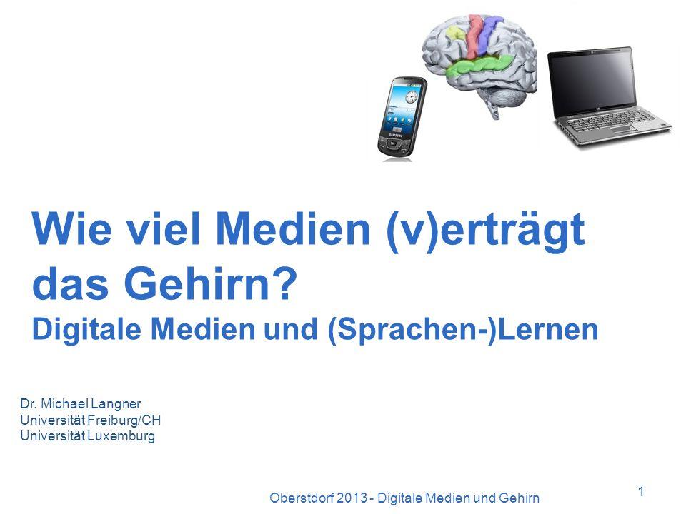 Aufmerksamkeit Oberstdorf 2013 - Digitale Medien und Gehirn21 3.