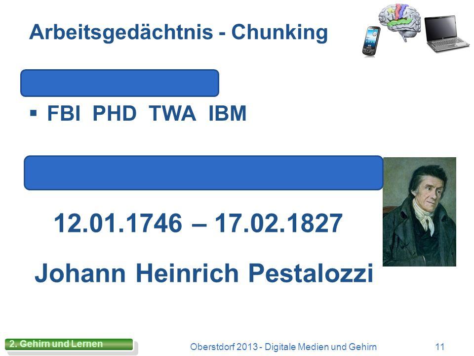 Gedächtnisarten Oberstdorf 2013 - Digitale Medien und Gehirn10 2. Gehirn und Lernen Modell eines Chefbüros mit 2 Sekretariaten: SR und AG Modell eines