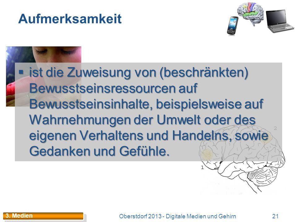 Nintendo-Generation: Lernen? Oberstdorf 2013 - Digitale Medien und Gehirn20 3. Medien Quick and dirty Quick and dirty Möglichst ohne grossen Aufwand M