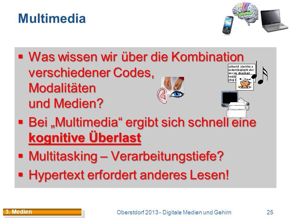 Exkurs 2: iBrain 24Oberstdorf 2013 - Digitale Medien und Gehirn 3. Medien Zusammenhang zwischen Autismus – Medienkonsum Virtuelles Leben fördert die R