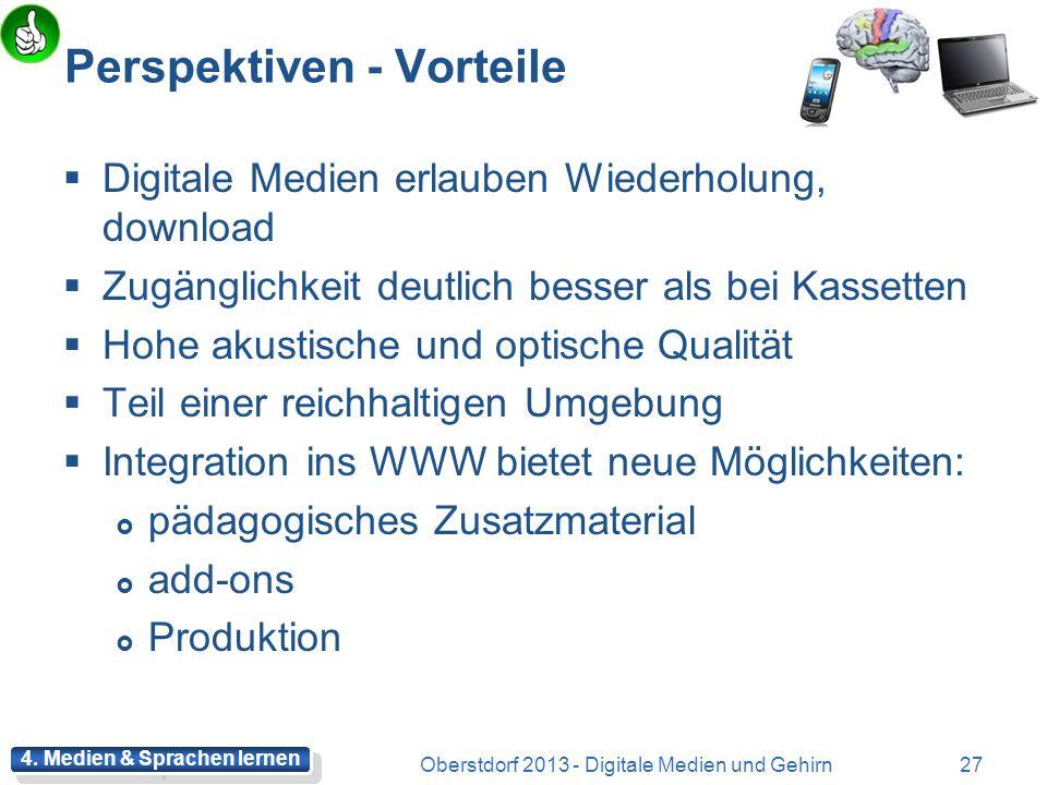 Forschungsergebnisse positiv Kombination von Text und Illustration Wortschatz wird bei multicodaler Präsentation besser gelernt: Text UND Bilder, Visu
