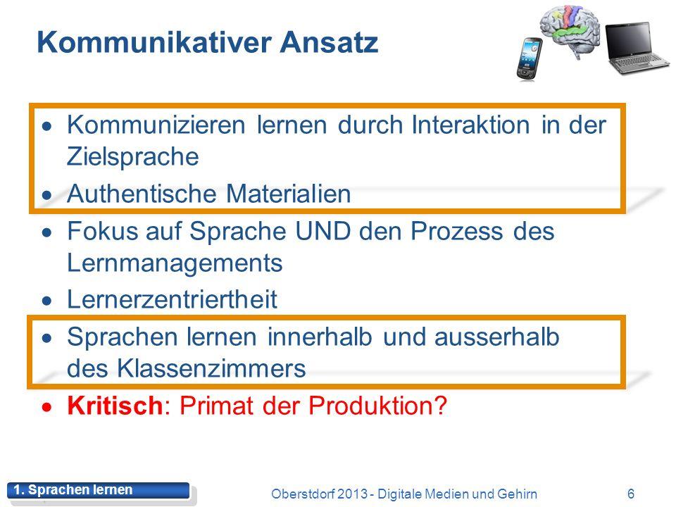 Exkurs: Neurogenese 16Oberstdorf 2013 - Digitale Medien und Gehirn 2.