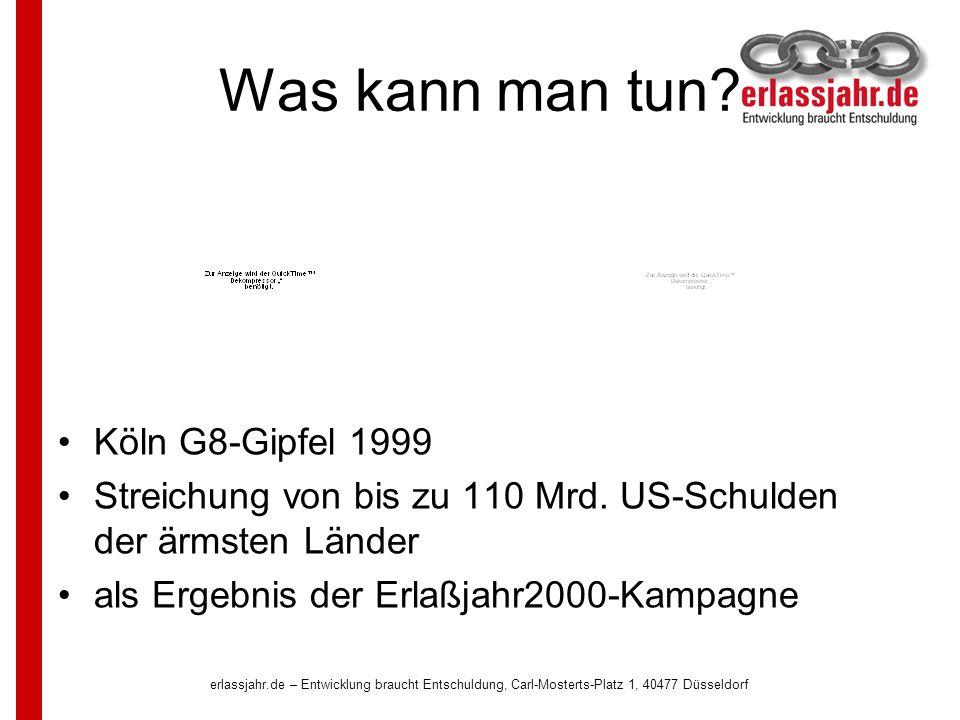 erlassjahr.de – Entwicklung braucht Entschuldung, Carl-Mosterts-Platz 1, 40477 Düsseldorf Wenn die Krise finanziert statt gelöst wird...