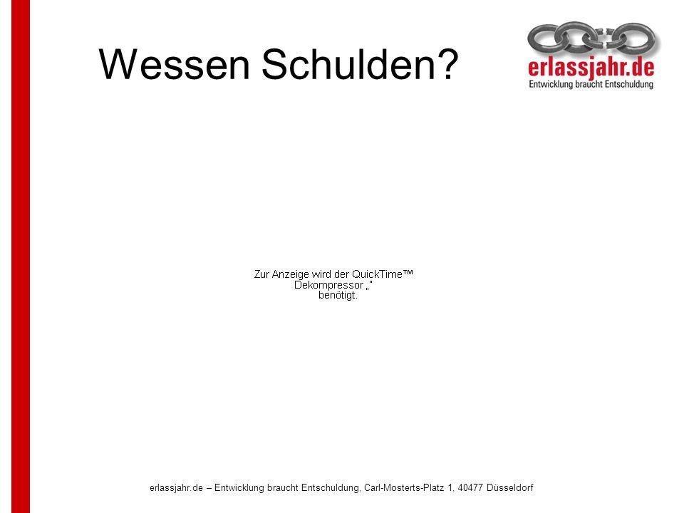 erlassjahr.de – Entwicklung braucht Entschuldung, Carl-Mosterts-Platz 1, 40477 Düsseldorf 15 Wer macht mit:...die weltweiten Netzwerke!