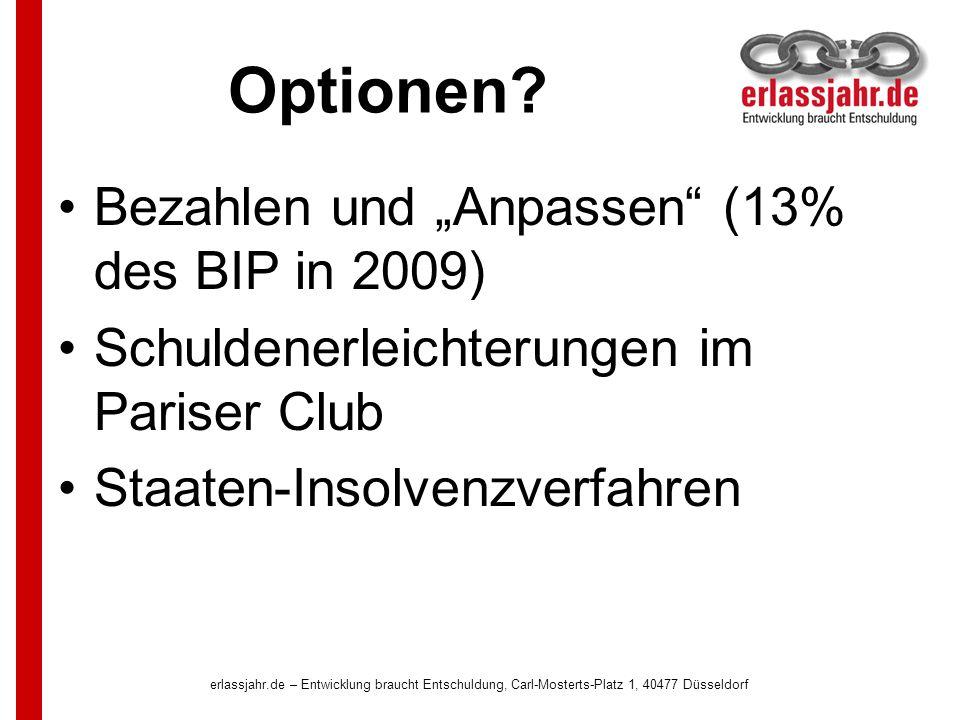 erlassjahr.de – Entwicklung braucht Entschuldung, Carl-Mosterts-Platz 1, 40477 Düsseldorf Wiederholt sich die Geschichte.