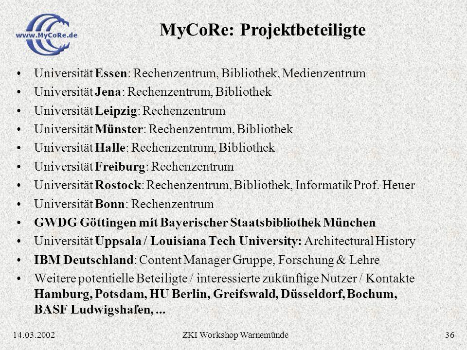 3514.03.2002ZKI Workshop Warnemünde Essener Lösung MILESS ist spezialisiert auf die Essener Anforderungen (z.