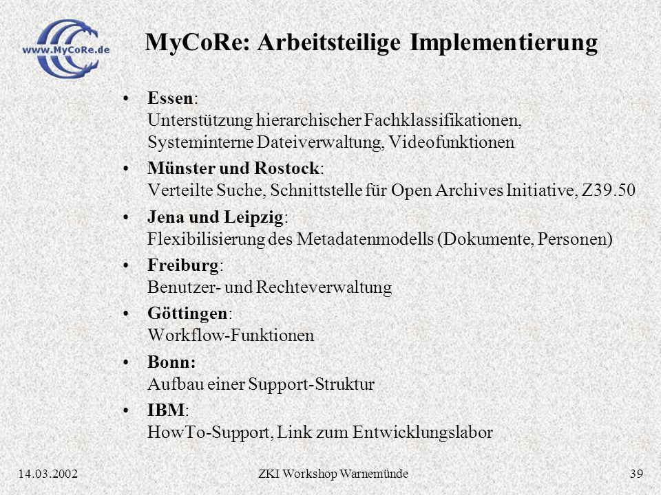 3814.03.2002ZKI Workshop Warnemünde Quellcode-Verwaltung über CVS Repository