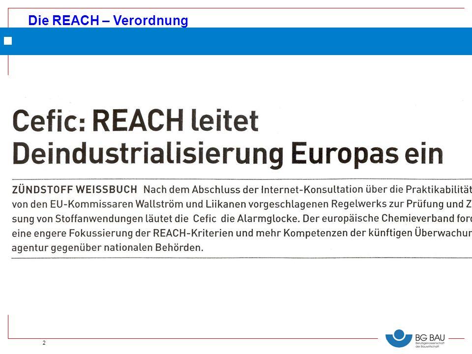 Die REACH – Verordnung 2