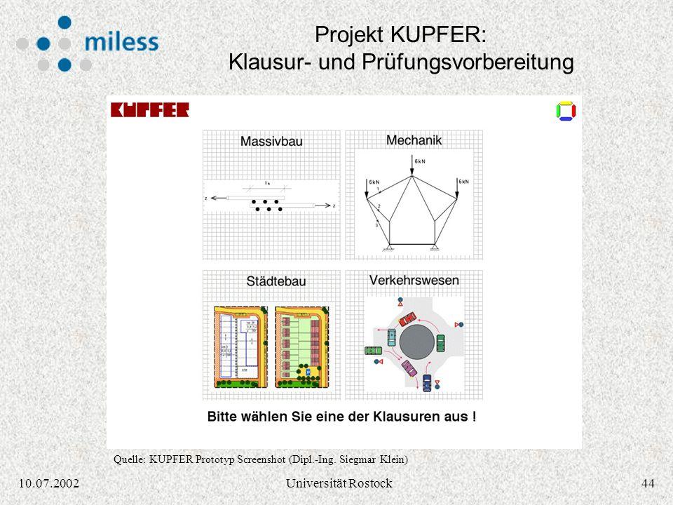 4310.07.2002Universität Rostock Learning Management System in SCORM Quelle: SCORM Dokumentation