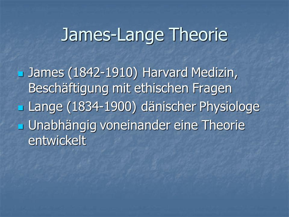 Was verstehen James und Lange unter Emotionen.