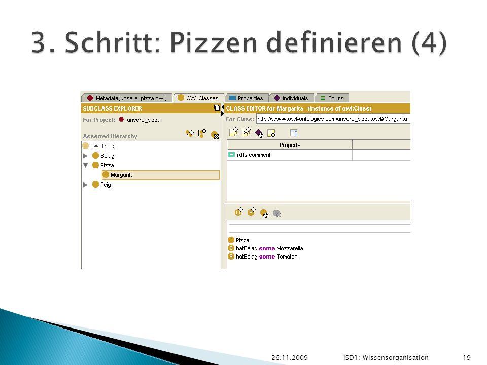26.11.2009ISD1: Wissensorganisation 19