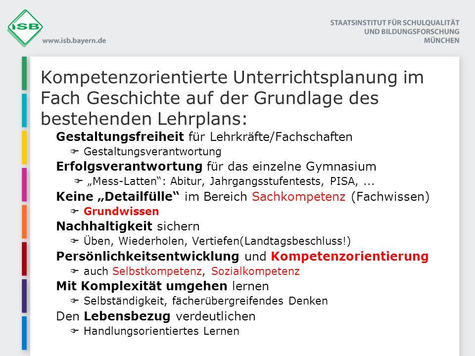Gestaltungsfreiheit für Lehrkräfte/Fachschaften Gestaltungsverantwortung Erfolgsverantwortung für das einzelne Gymnasium Mess-Latten: Abitur, Jahrgang