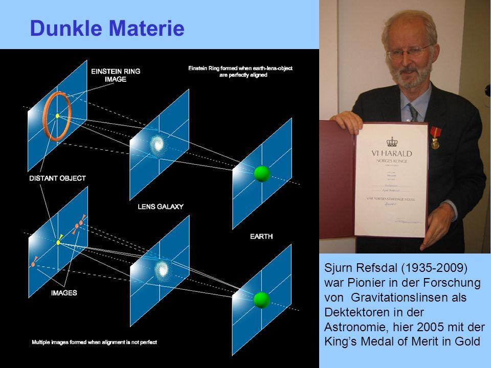 Sjurn Refsdal (1935-2009) war Pionier in der Forschung von Gravitationslinsen als Dektektoren in der Astronomie, hier 2005 mit der Kings Medal of Meri
