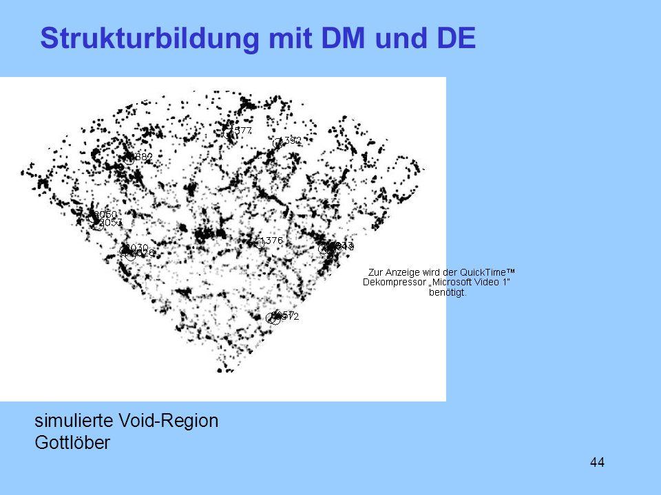 44 simulierte Void-Region Gottlöber Strukturbildung mit DM und DE