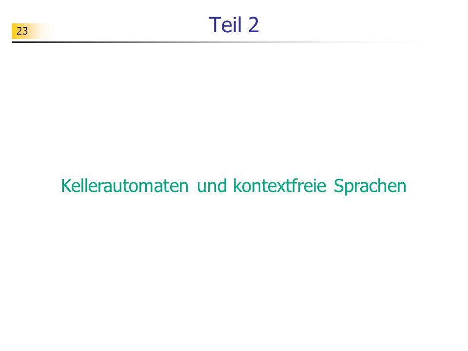 23 Teil 2 Kellerautomaten und kontextfreie Sprachen