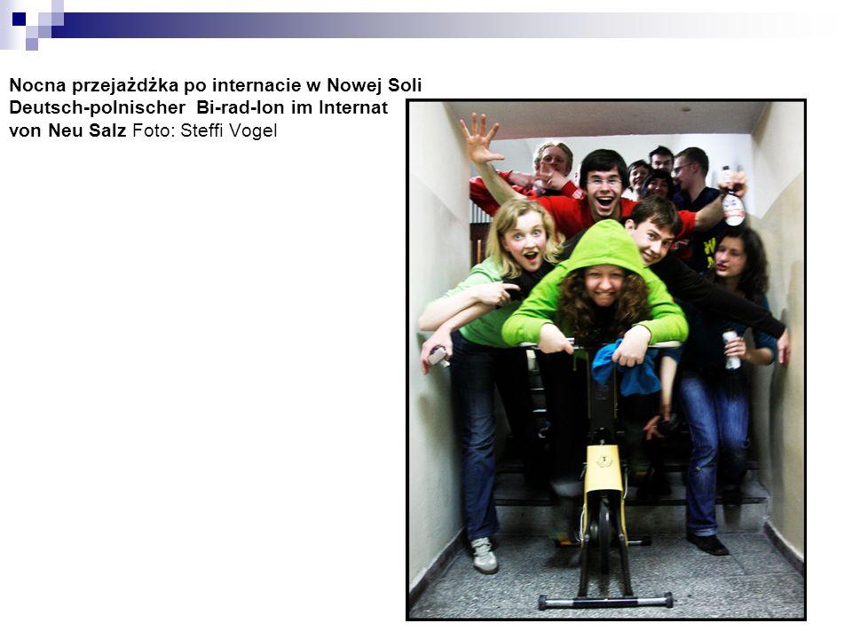 Nocna przejażdżka po internacie w Nowej Soli Deutsch-polnischer Bi-rad-lon im Internat von Neu Salz Foto: Steffi Vogel