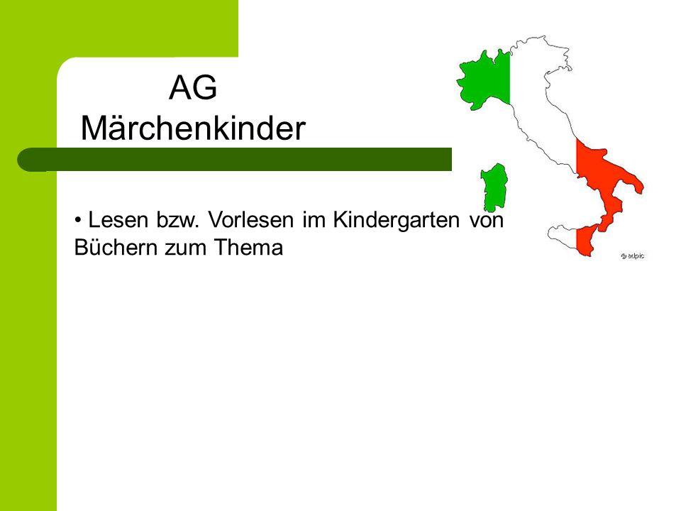 Lesen bzw. Vorlesen im Kindergarten von Büchern zum Thema AG Märchenkinder