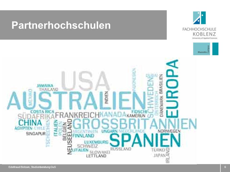 6 Partnerhochschulen Edeltraud Botzum, Studienberatung GuS