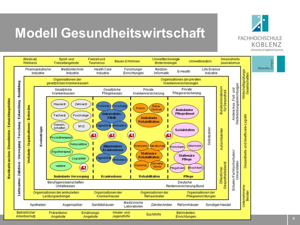 Autorenkennung: Name / Funktion8 Modell Gesundheitswirtschaft