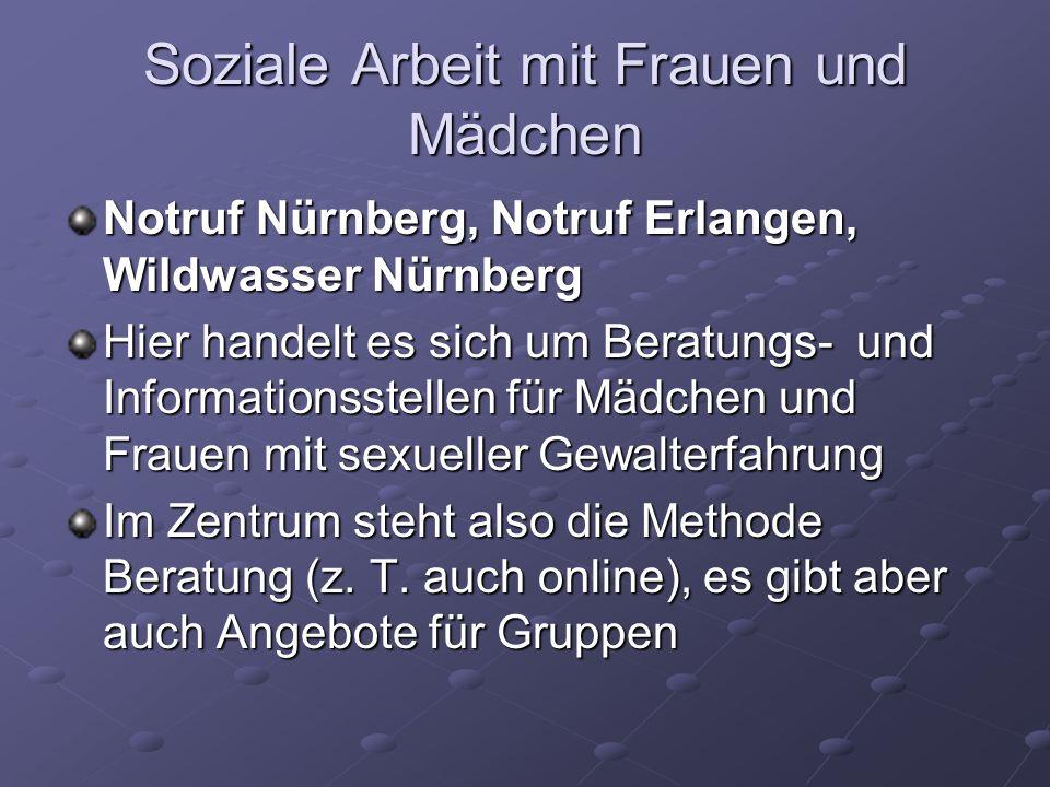 Notruf Nürnberg, Notruf Erlangen, Wildwasser Nürnberg Hier handelt es sich um Beratungs- und Informationsstellen für Mädchen und Frauen mit sexueller